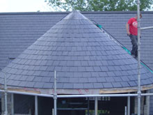 Lisburn Roofers Circle Slate 5