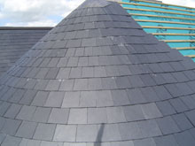 Lisburn Roofers Circle Slate 4